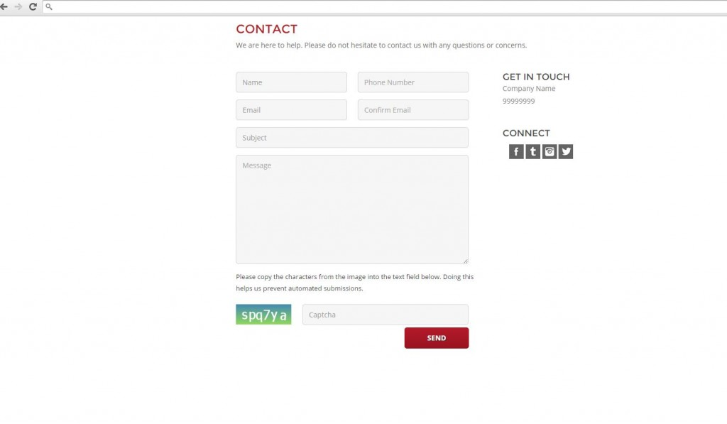 Confirm Email field in Contact form BigCommerce
